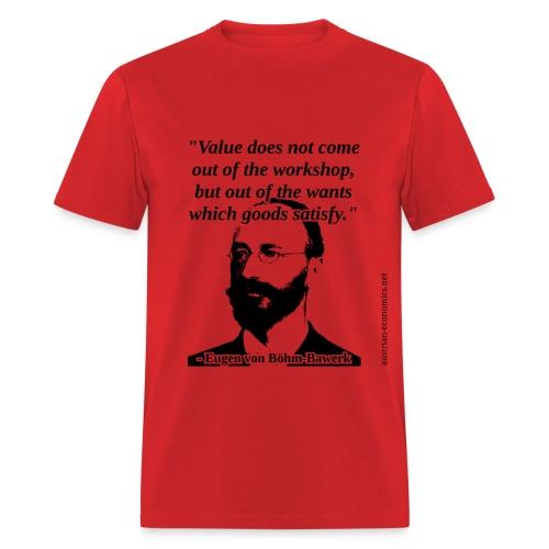 Eugen von Bohm Bawerk - Value - Men's T-Shirt