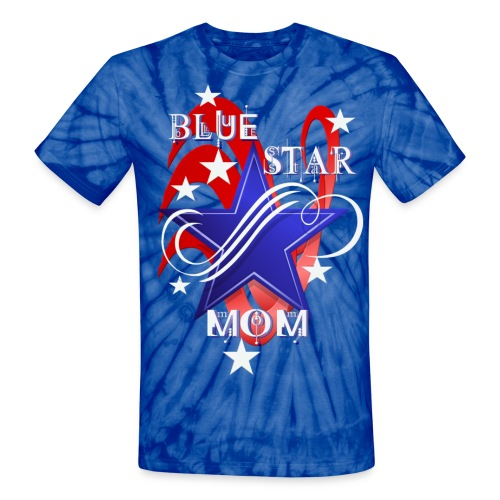 Fancy Blue Star Mom - Unisex Tie Dye T-Shirt