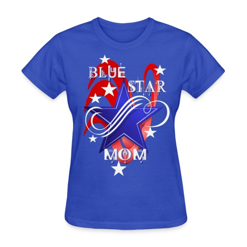 Fancy Blue Star Mom - Women's T-Shirt