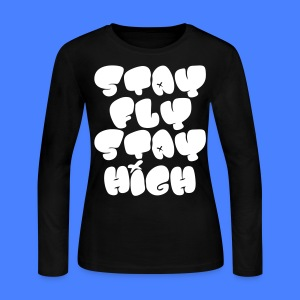 Stay Fly Stay High Long Sleeve Shirts - stayflyclothing.com - Women's Long Sleeve Jersey T-Shirt
