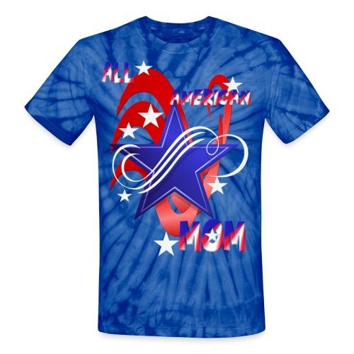 An American Mom - Unisex Tie Dye T-Shirt
