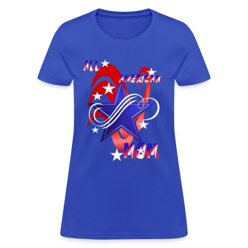 An American Mom - Women's T-Shirt