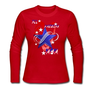 An American Mom - Women's Long Sleeve Jersey T-Shirt