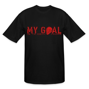 My Goal Is To Deny Yours (Lax) Men's Tall T-Shirt - Men's Tall T-Shirt