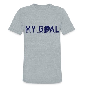 My Goal Is To Deny Yours (Lax) Men's Vintage T-Shirt - Unisex Tri-Blend T-Shirt
