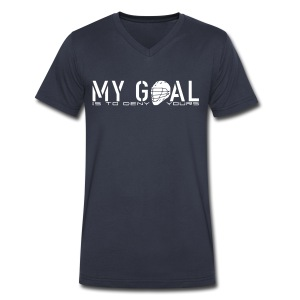 My Goal Is To Deny Yours (Lax) Men's V-Neck T-Shirt - Men's V-Neck T-Shirt by Canvas