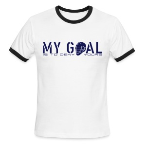My Goal Is To Deny Yours (Lax) Men's Ringer T-Shirt - Men's Ringer T-Shirt