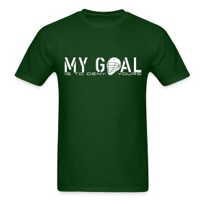 My Goal Is To Deny Yours (Lax) Men's Standard Weight T-Shirt - Men's T-Shirt