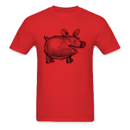 T-Shirts ~ Men's T-Shirt ~ Naked Pig T (front)