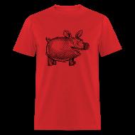 T-Shirts ~ Men's T-Shirt ~ Naked Pig T (front)