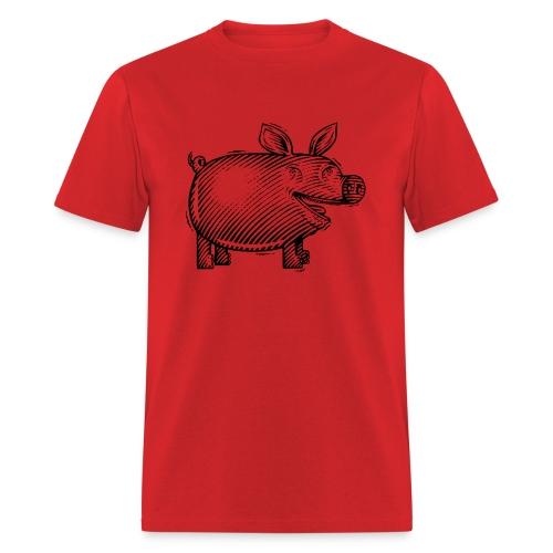 Naked Pig T (front) - Men's T-Shirt