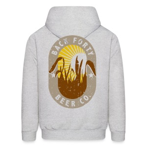 Back Forty Beer Co. (front and back) Logo Hoodie - Men's Hoodie
