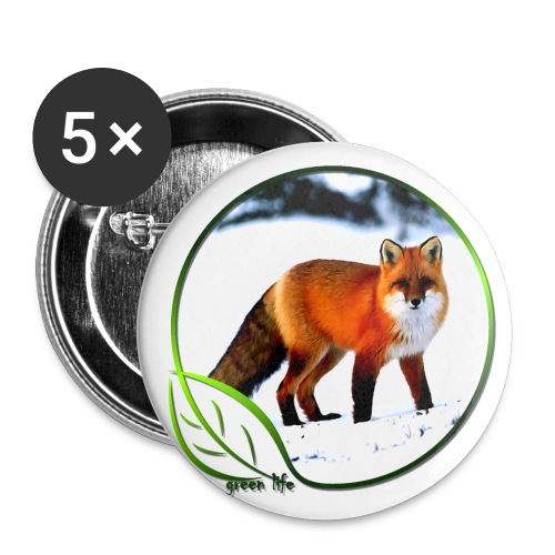 Green Life Arctic Fox Large Button - Large Buttons
