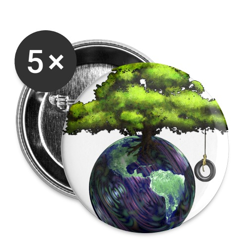 Earth Tree Large Button - Large Buttons