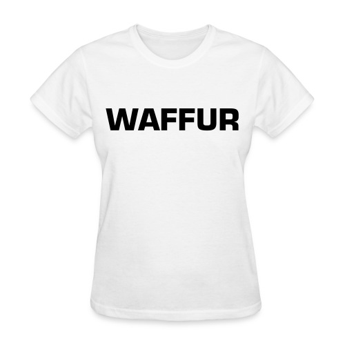 Mir's Waffur (Black Text) - Women's T-Shirt