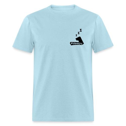 #Sleepy - Large 7 tee. Black ink - MENS - Men's T-Shirt