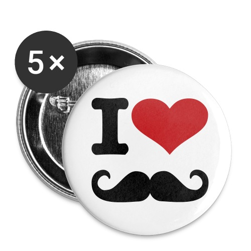 I Love Mustaches - Large Buttons