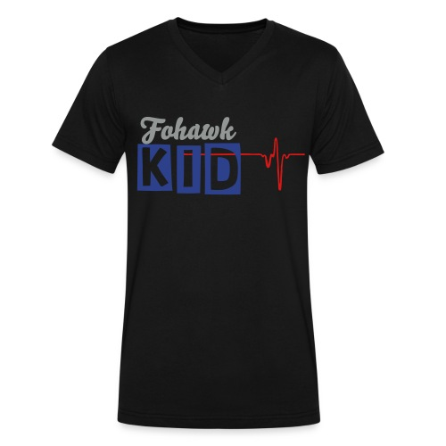 Fohawkkid'S BEaT - Men's V-Neck T-Shirt by Canvas