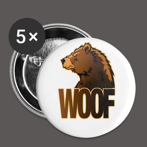 BEAR WOOF - Large Buttons