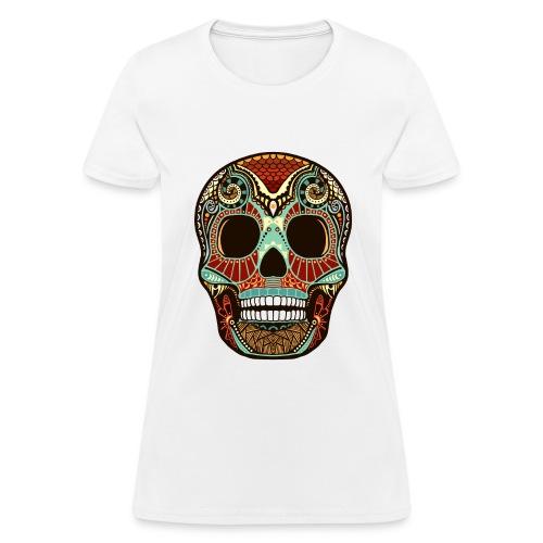 Aztec print skull - Women's T-Shirt