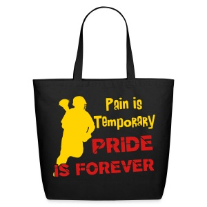 Pain is Temporary (lacrosse) Cotton Tote - Eco-Friendly Cotton Tote