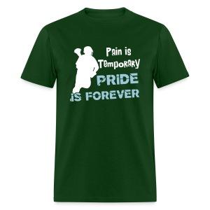 Pain is Temporary (lacrosse) Men's Standard Weight T-Shirt - Men's T-Shirt