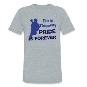 Pain is Temporary (lacrosse) Men's Vintage T-Shirt - Unisex Tri-Blend T-Shirt