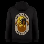 Zip Hoodies & Jackets ~ Men's Zip Hoodie ~ Men's Zipper Hoddie BFBC logo (back) Liquid Folk Art (front)