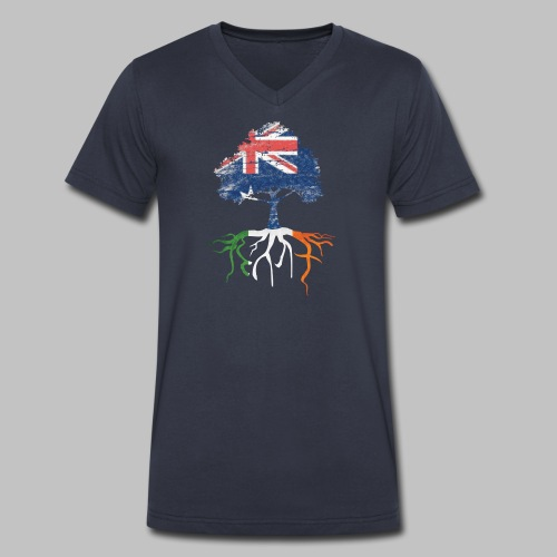 Australian Irish Roots - Men's V-Neck T-Shirt by Canvas