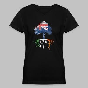 Australian Irish Roots - Women's V-Neck T-Shirt