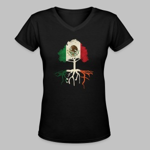 Mexican Irish Roots - Women's V-Neck T-Shirt