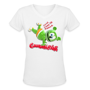 Gummibär (The Gummy Bear) Ladies V-Neck T-Shirt - Women's V-Neck T-Shirt