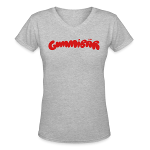 Gummibär (The Gummy Bear) Logo Ladies V-Neck T-Shirt - Women's V-Neck T-Shirt