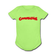 Baby Bodysuits ~ Baby Short Sleeve One Piece ~ Gummibär Logo Baby Short Sleeve One Piece