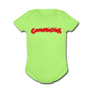 Gummibär (The Gmmy Bear) Logo Baby Short Sleeve One Piece - Short Sleeve Baby Bodysuit