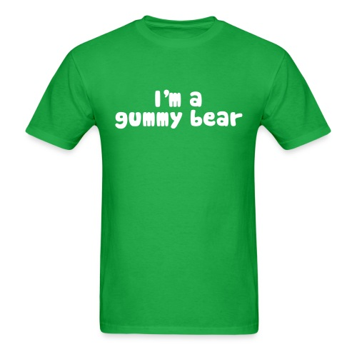 I'm A Gummy Bear Men's Lyric T-Shirt - Men's T-Shirt