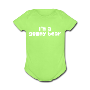 I'm A Gummy Bear Lyric Baby Short Sleeve One Piece - Short Sleeve Baby Bodysuit