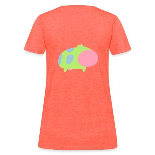 Women's T-Shirt - multicolored,moo,cute,cow,animal