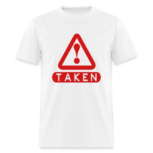Taken White/Red - Men's T-Shirt