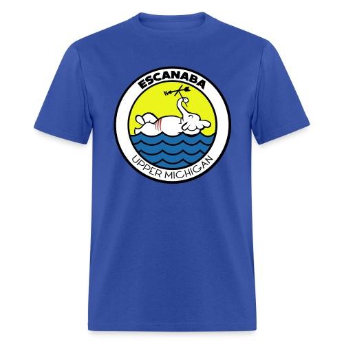 Escanaba, MI. Elephant - Men's T-Shirt