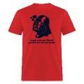 Darth Vader ONCE YOU GO BLACK - men's t-shirt