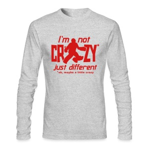 I'm Not Crazy (field hockey) Men's Long Sleeve T-Shirt - Men's Long Sleeve T-Shirt by Next Level