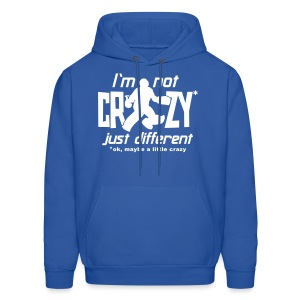 I'm Not Crazy (field hockey) Men's Hooded Sweatshirt - Men's Hoodie