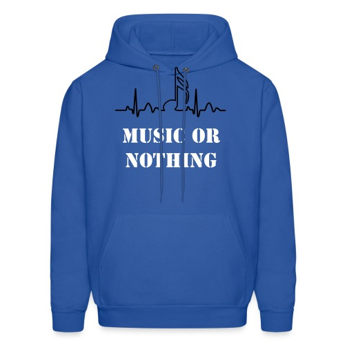 music or nothing - Men's Hoodie