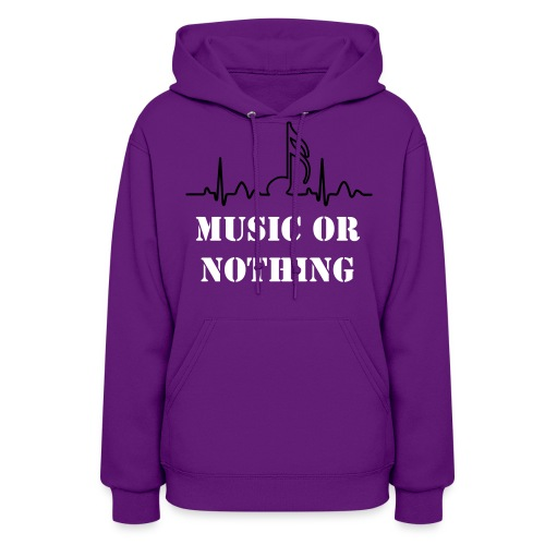 music or nothing - Women's Hoodie