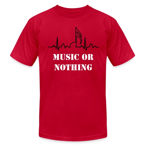 music or nothing - Men's Fine Jersey T-Shirt