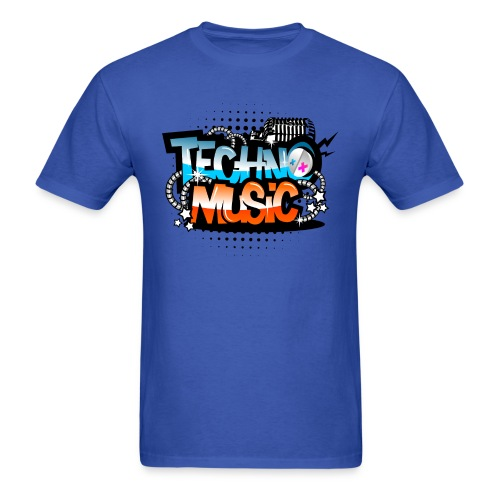 TECHNO MUSIC T-SHIRT - Men's T-Shirt