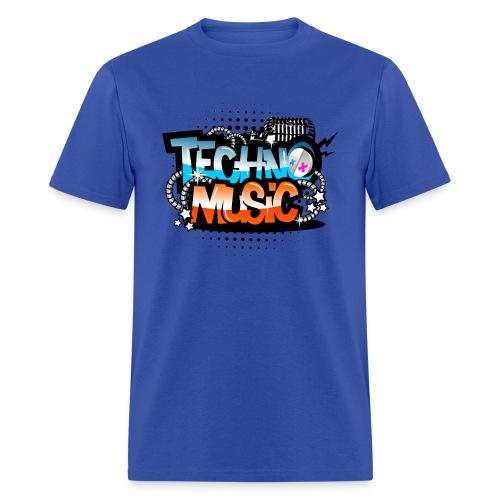 TECHNO MUSIC T-SHIRT - Men's T-Shirt