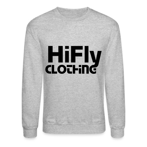 Official HiFlyClothing Grey CrewNeck - Crewneck Sweatshirt