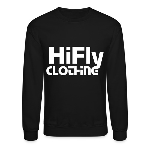 Official HiFlyClothing Black CrewNeck - Crewneck Sweatshirt